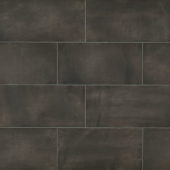 Chateau 12x24 porcelain floor tile in Tobacco