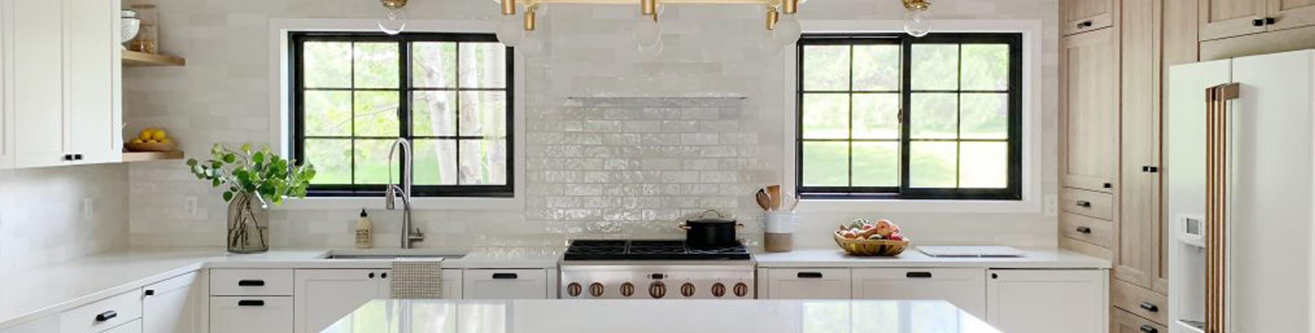 Kitchen Backsplash & Range Hood Designed By Chris Loves Julia