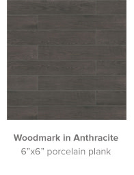 Woodmark in Anthracite 6x6 porcelain plank