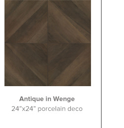 Antique in Wenge 24x24 porcelain deco