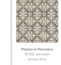 Palazzo in Florentina 12x12 porcelain in Vintage Grey