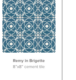 Remy in Brigette 8x8 cement tile