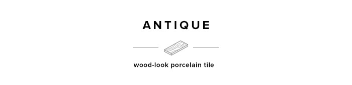 Antique wood-look porcelain tile