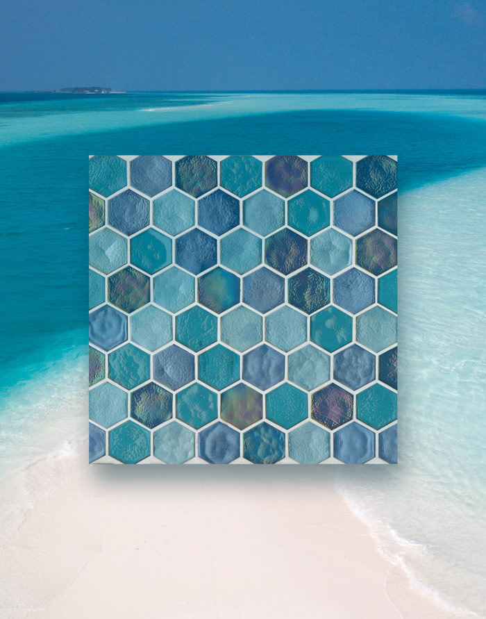 Deep Sea Blend in Hexagon