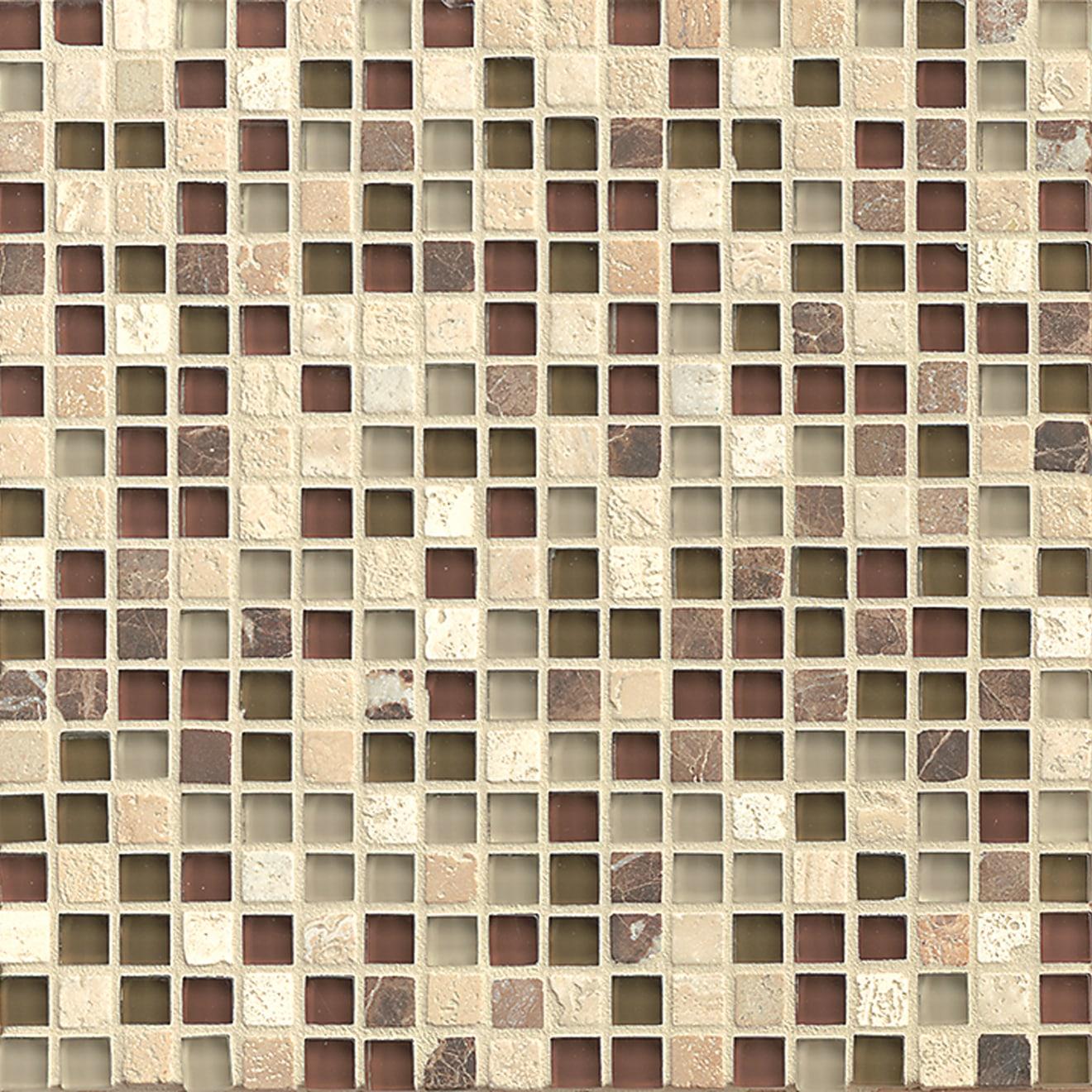 Eclipse 5 8 X 5 8 Wall Mosaic In Merlot Bedrosians Tile Stone