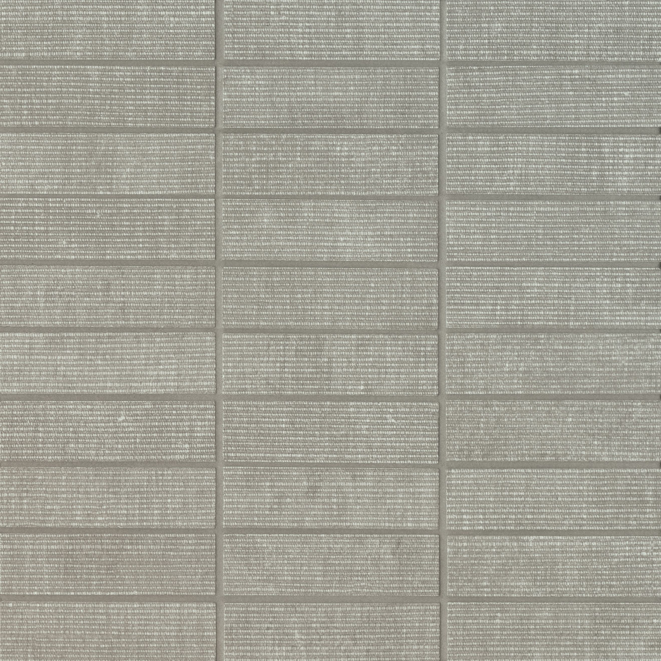 "Plaza 1""x4"" Matte Porcelain Mosaic in Mist"