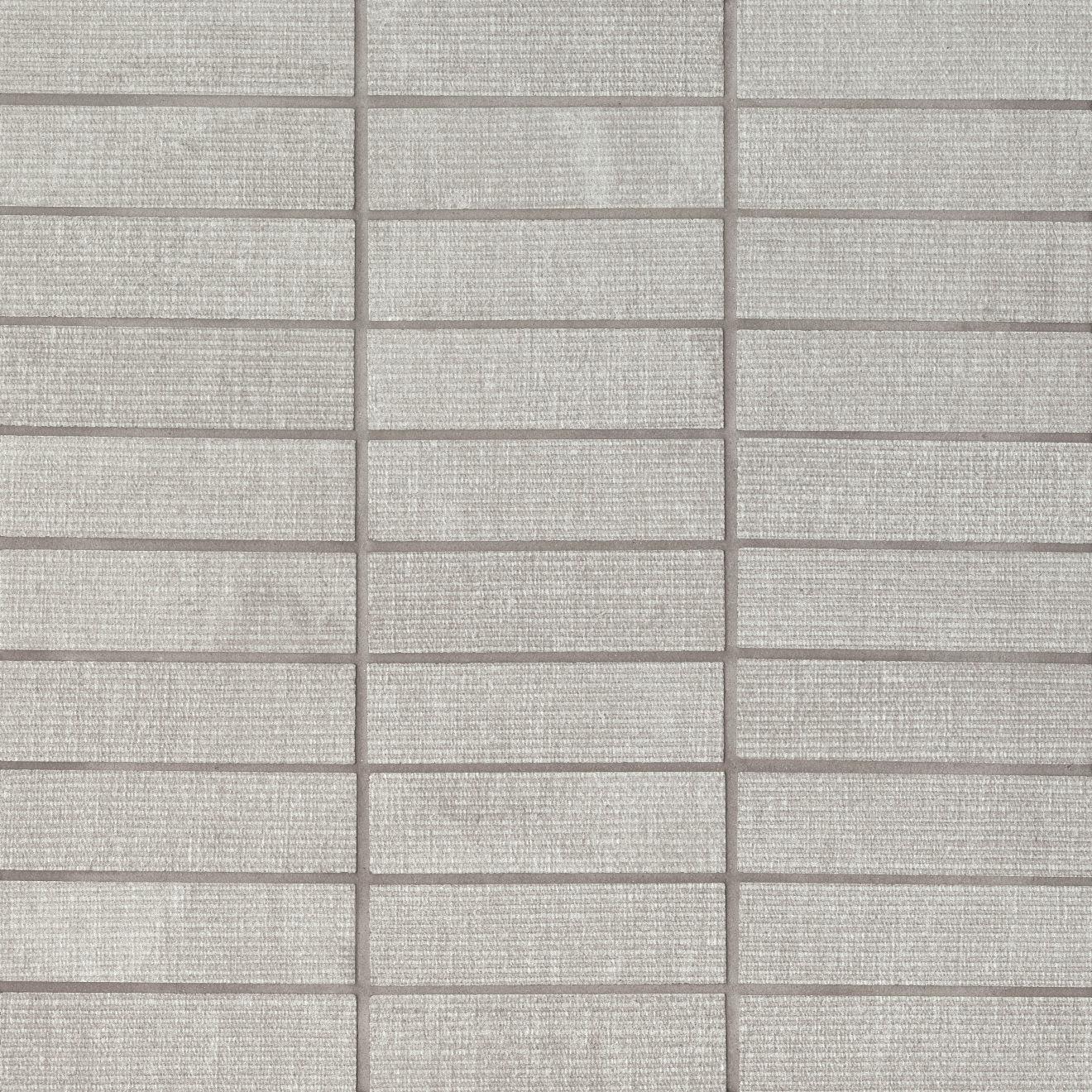 "Plaza 1""x4"" Matte Porcelain Mosaic in Seashell"