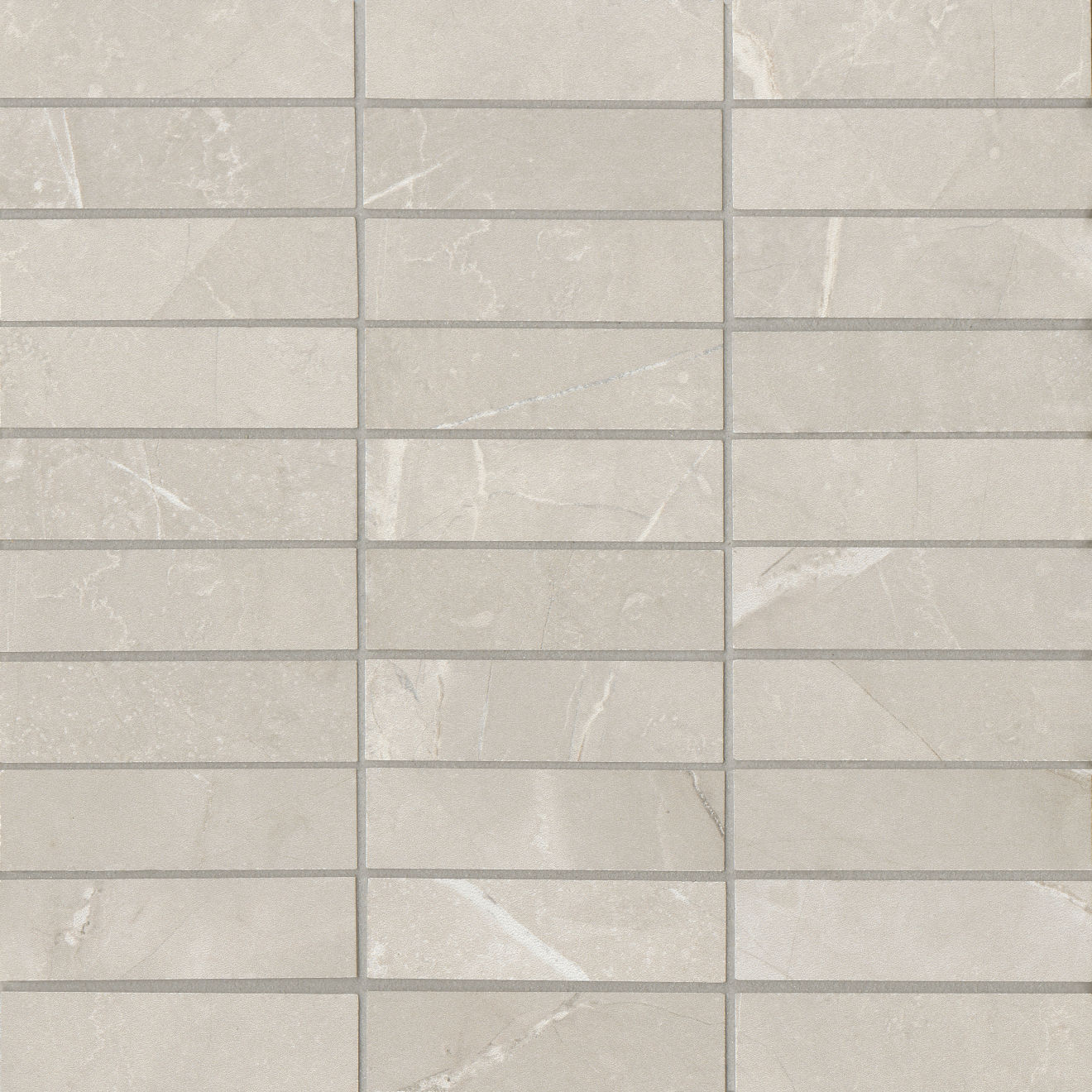 "Pulpis 1""x4"" Honed Porcelain Mosaic in Grigio"