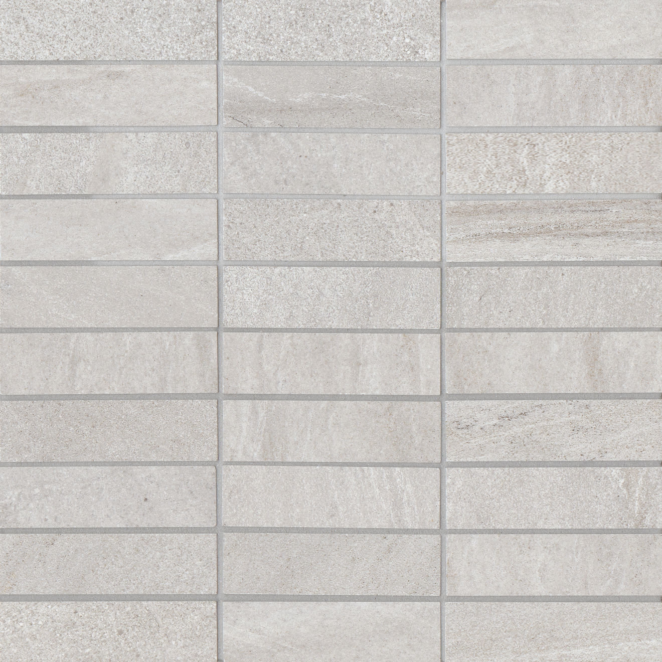 "Purestone 1""x4"" Glazed Porcelain Mosaic in Grigio"