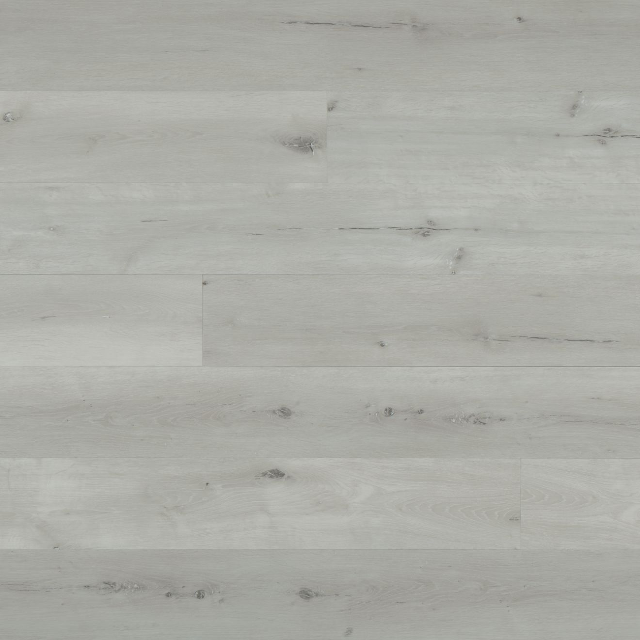 "Cassio 7""x48"" Luxury SPC Vinyl Flooring in White"