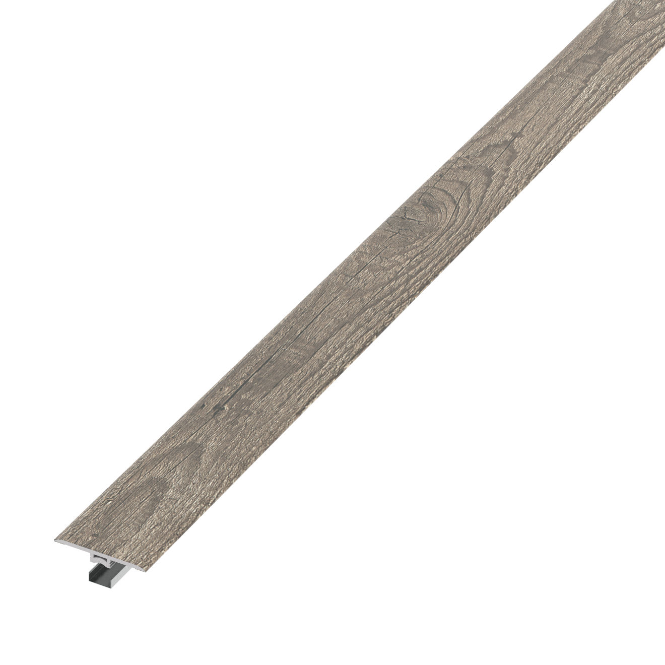 Madera Luxury SPC Vinyl T-Molding Trim in Barnwood Oak