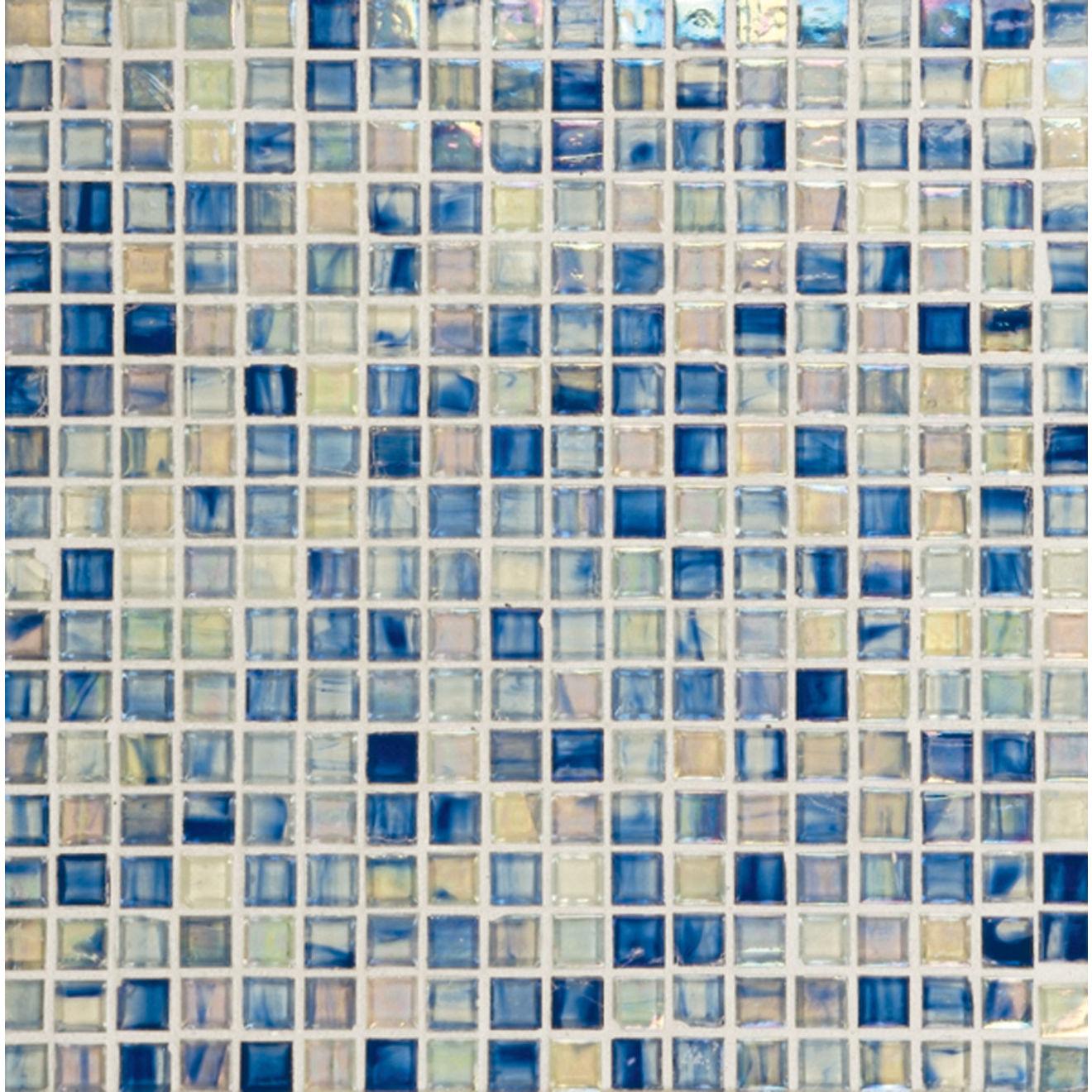 Haute Glass Mosaic in Bonsai Blu
