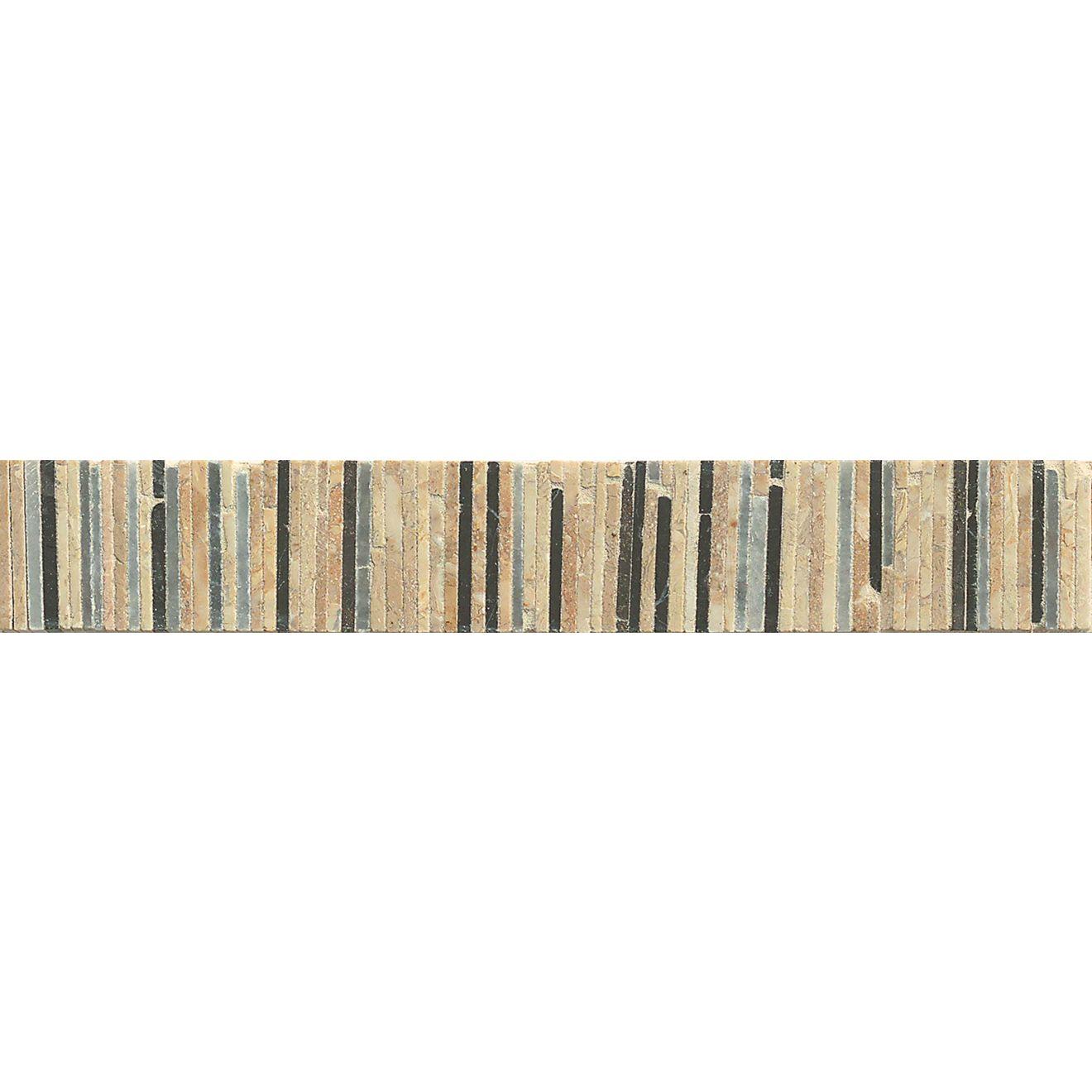 "Menage et Trois 2"" x 11.75"" Floor & Wall Listello in Ebony, Hesperia, Rubidoux"