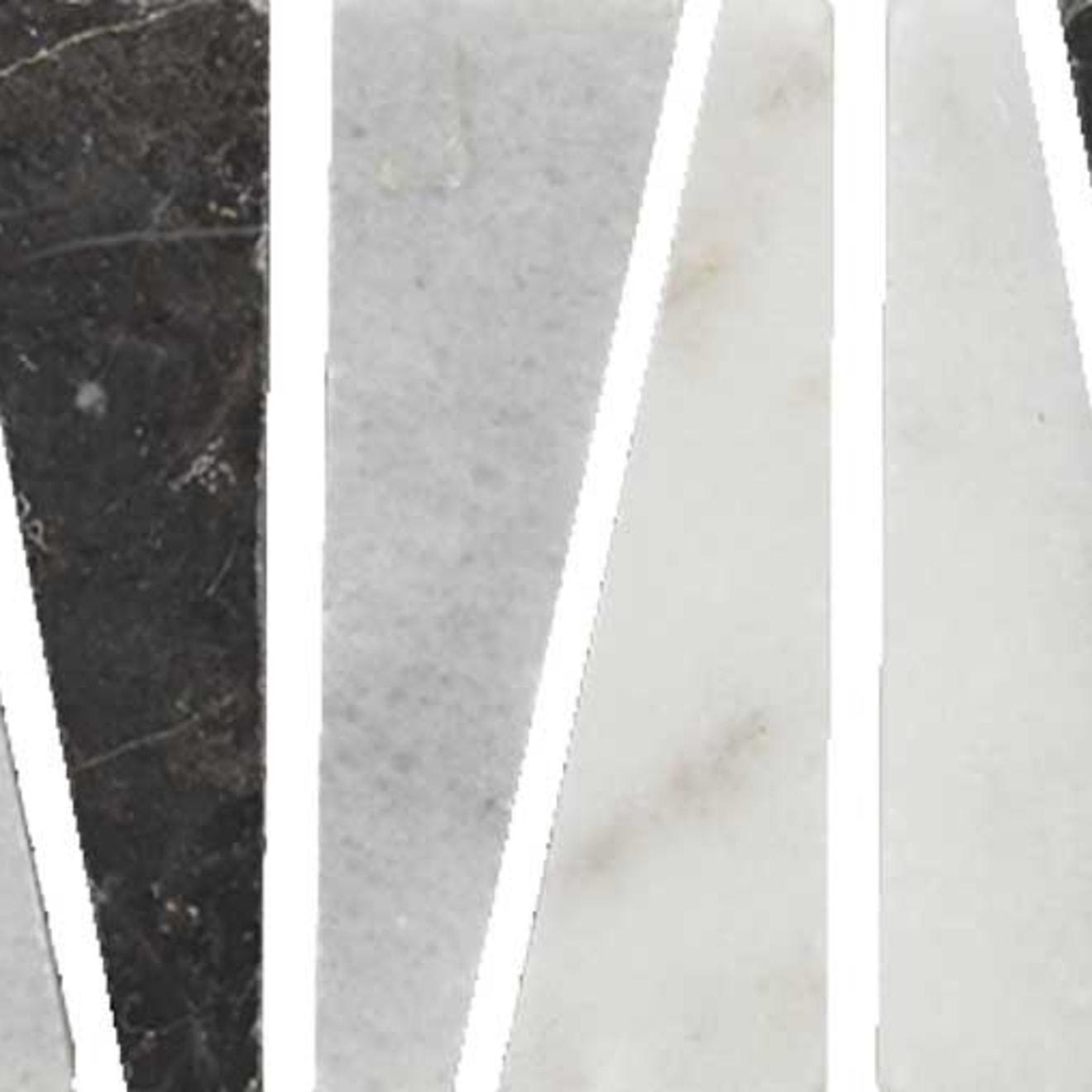 "Menage et Trois 2.5"" x 12"" Floor & Wall Listello in Anamite, Ebony, Hesperia"