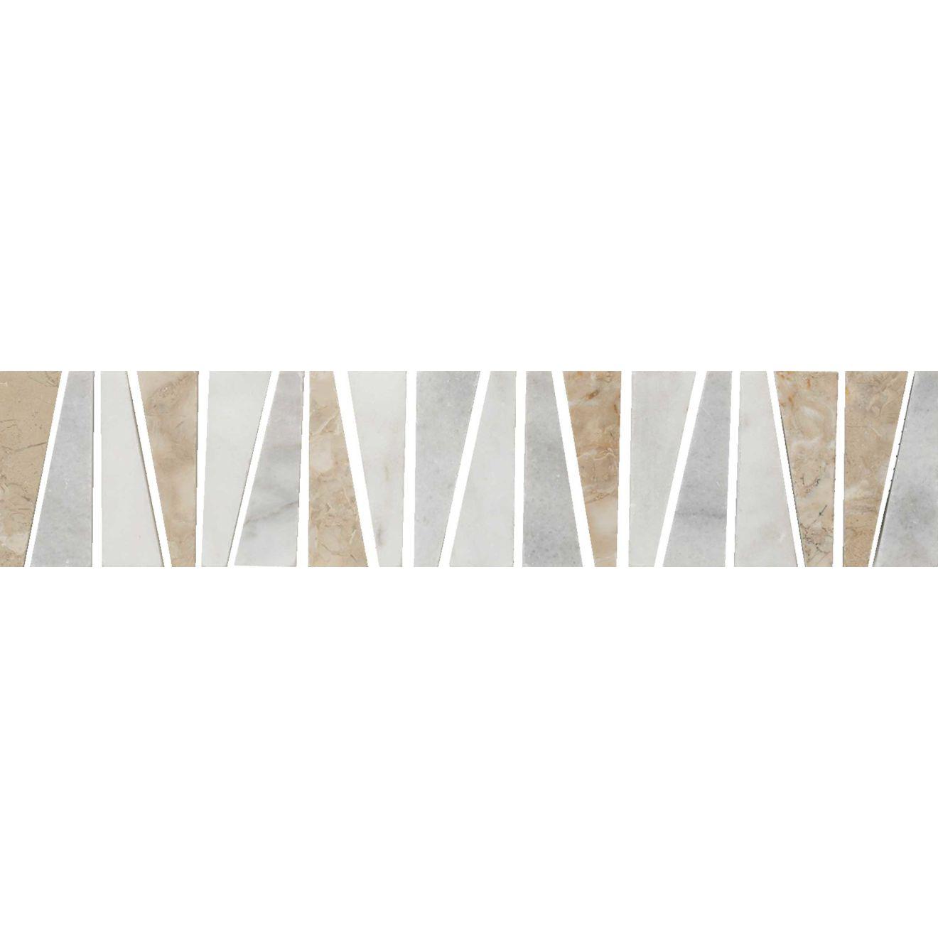 """Menage et Trois 2.5"""" x 12"""" Floor & Wall Listello in Anamite, Hesperia, Rubidoux"""