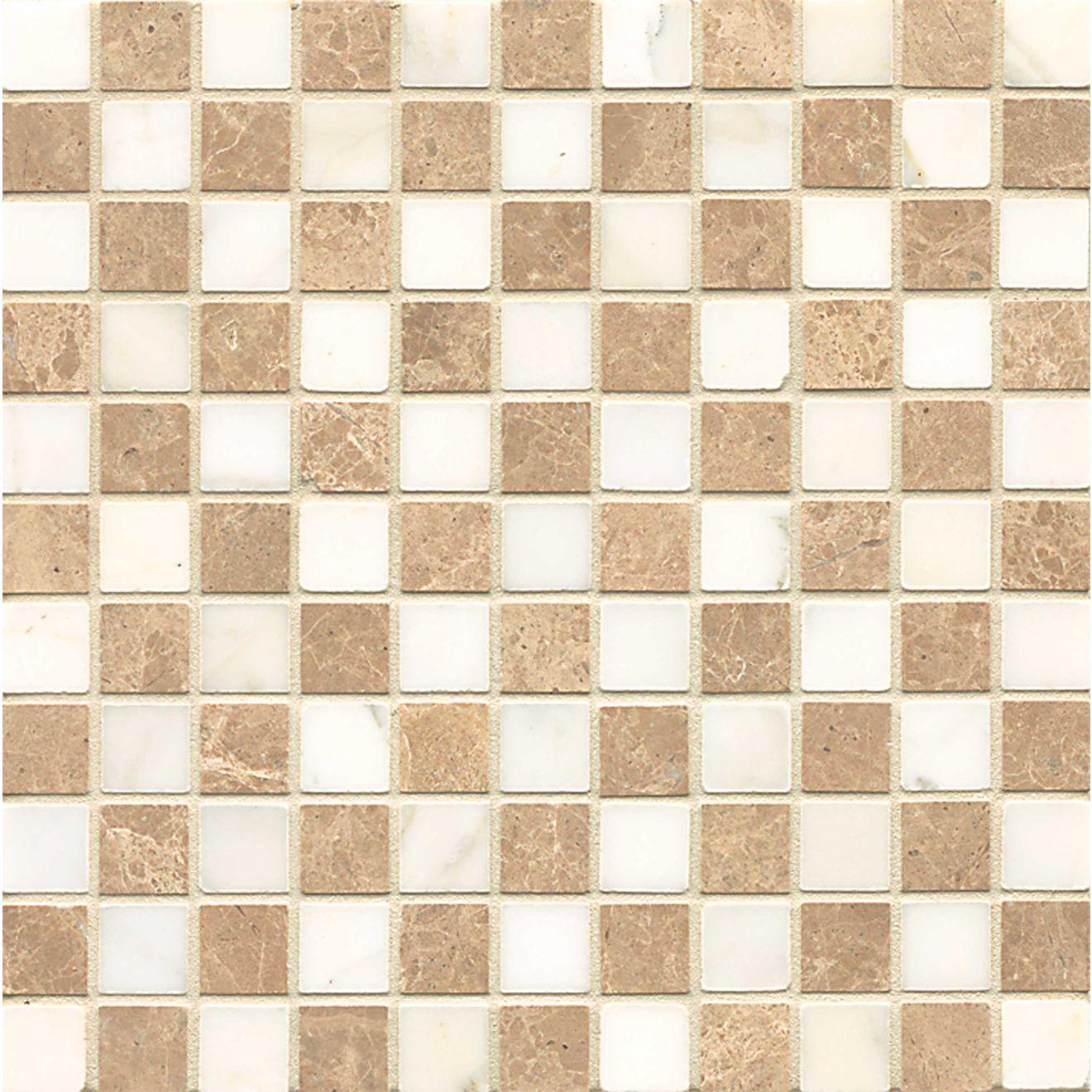 1X1 Chks Mosaic-Viburnum/Calacatta