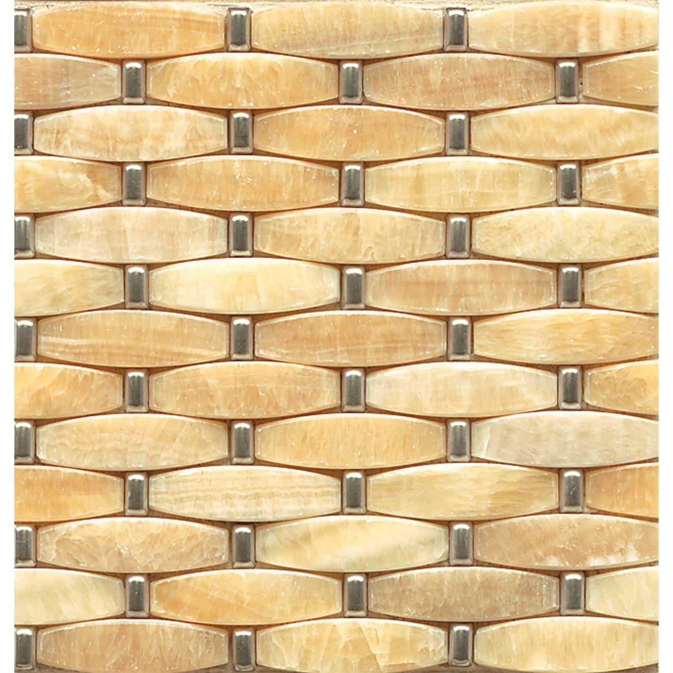 1X2 3D Weave W/Metal-Honey Onyx