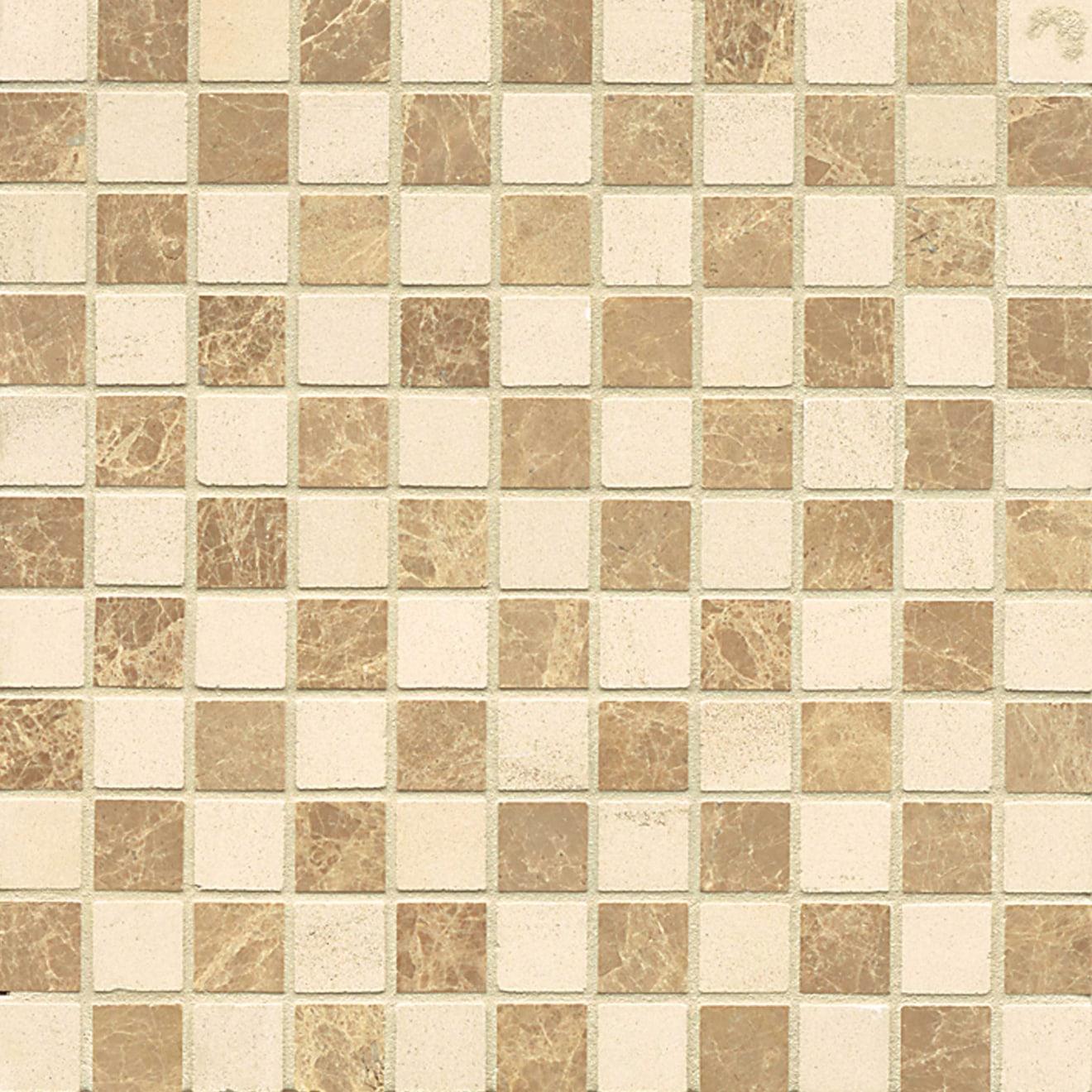 1X1 Checks Mosaic-Viburnum/ Mocha