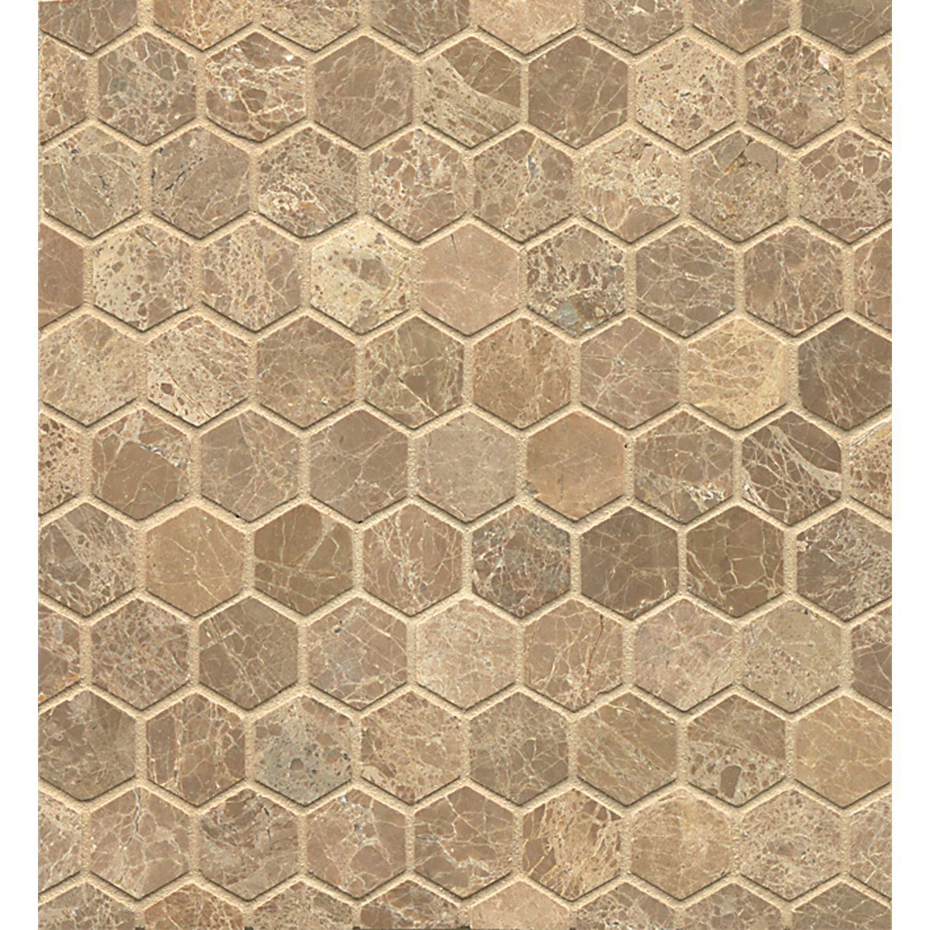 Mod Rocks Limestone Hexagon Mosaic in Viburnum