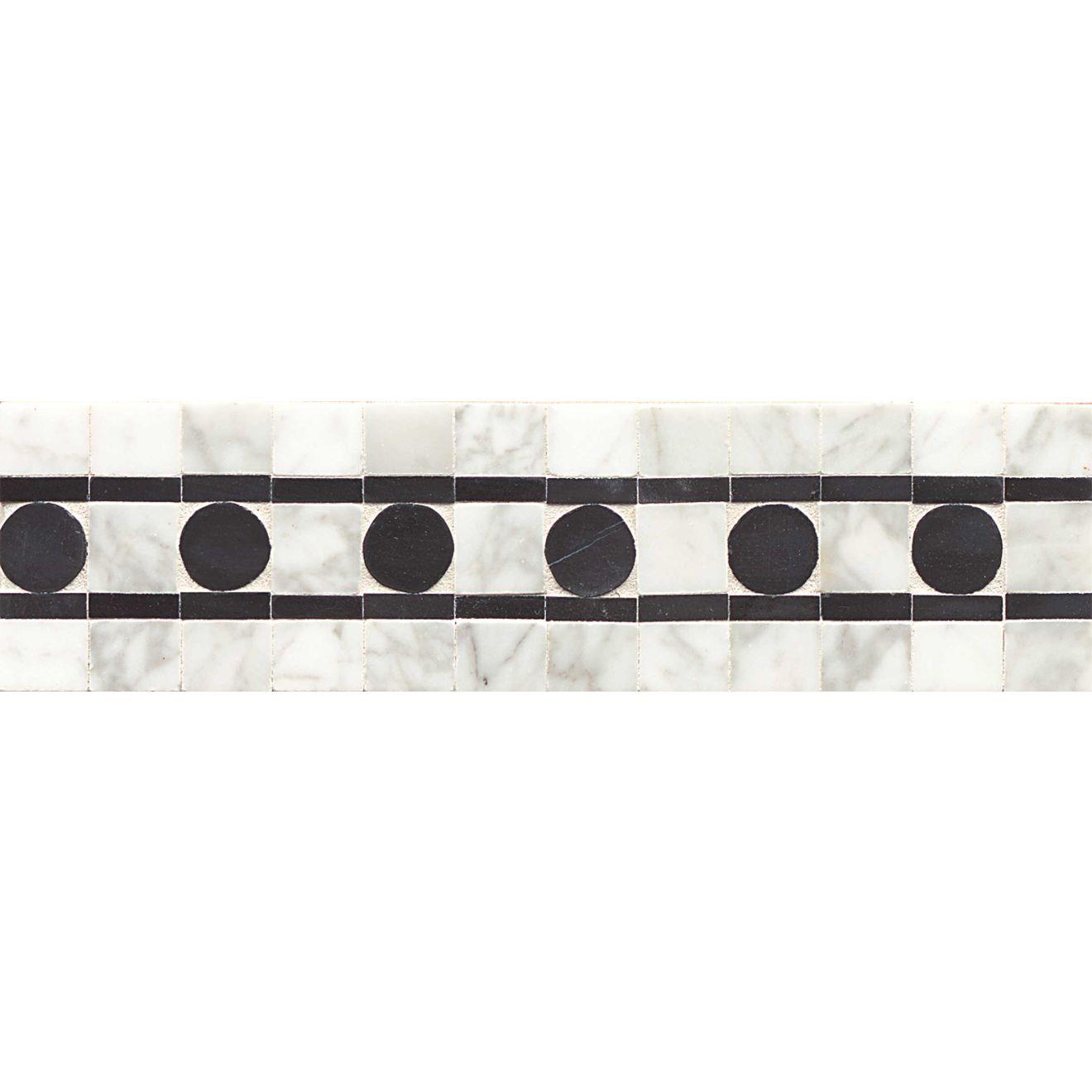 3X12 Liner Sqre Peg-Wh Carre/Ebony