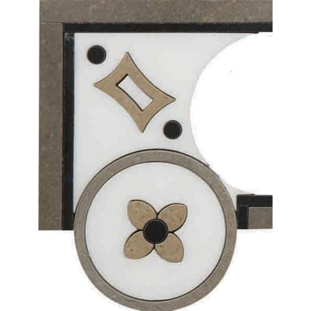 "Suave 4"" x 4"" Decorative Tile in Calacatta, Gold, Nero, Sable"
