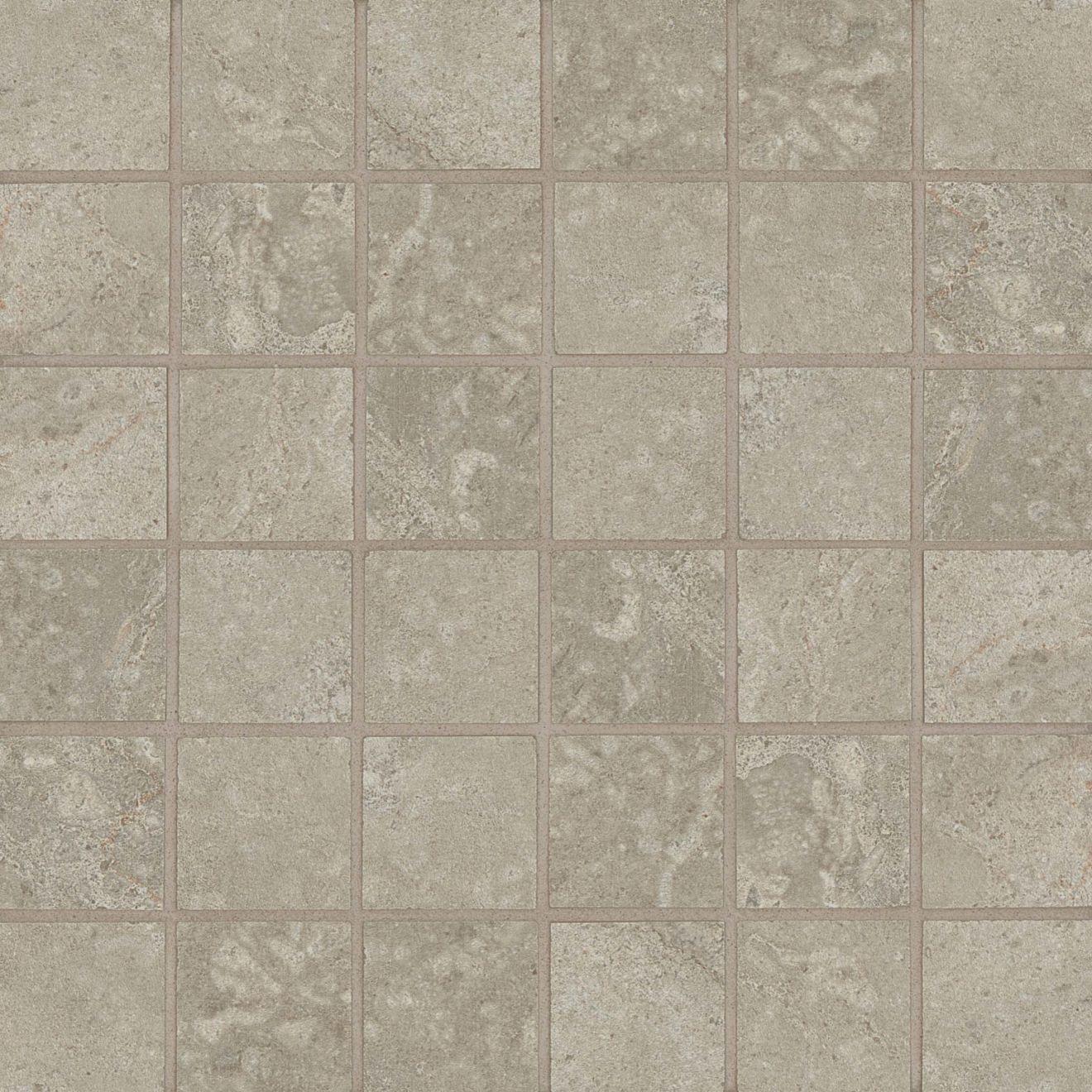 "Stone Valley 2"" x 2"" Floor & Wall Mosaic in Sabbia"