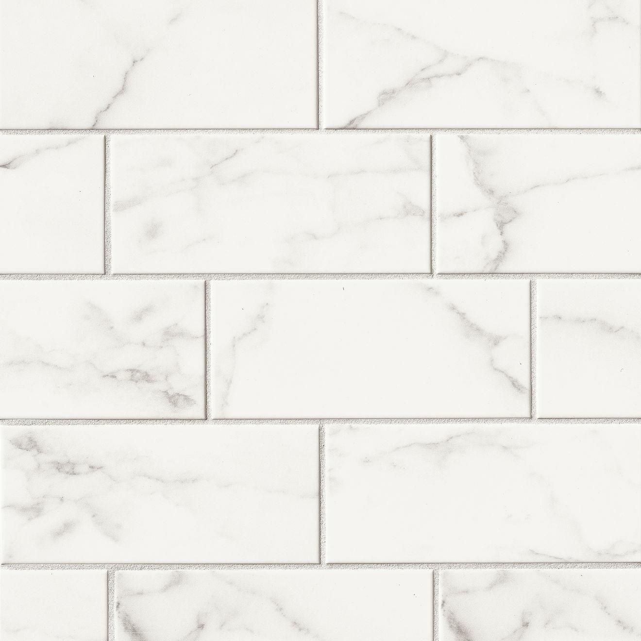 "Brooklyn 4"" x 10"" Wall Tile in Statuario"