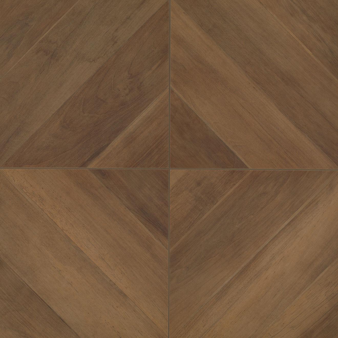 """Antique 24"""" x 24"""" Floor & Wall Tile in Walnut"""