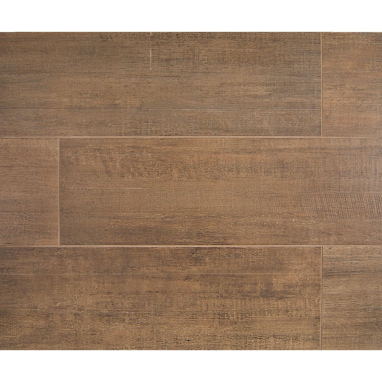 """Barrique 8"""" x 24"""" Floor & Wall Tile in Brun"""