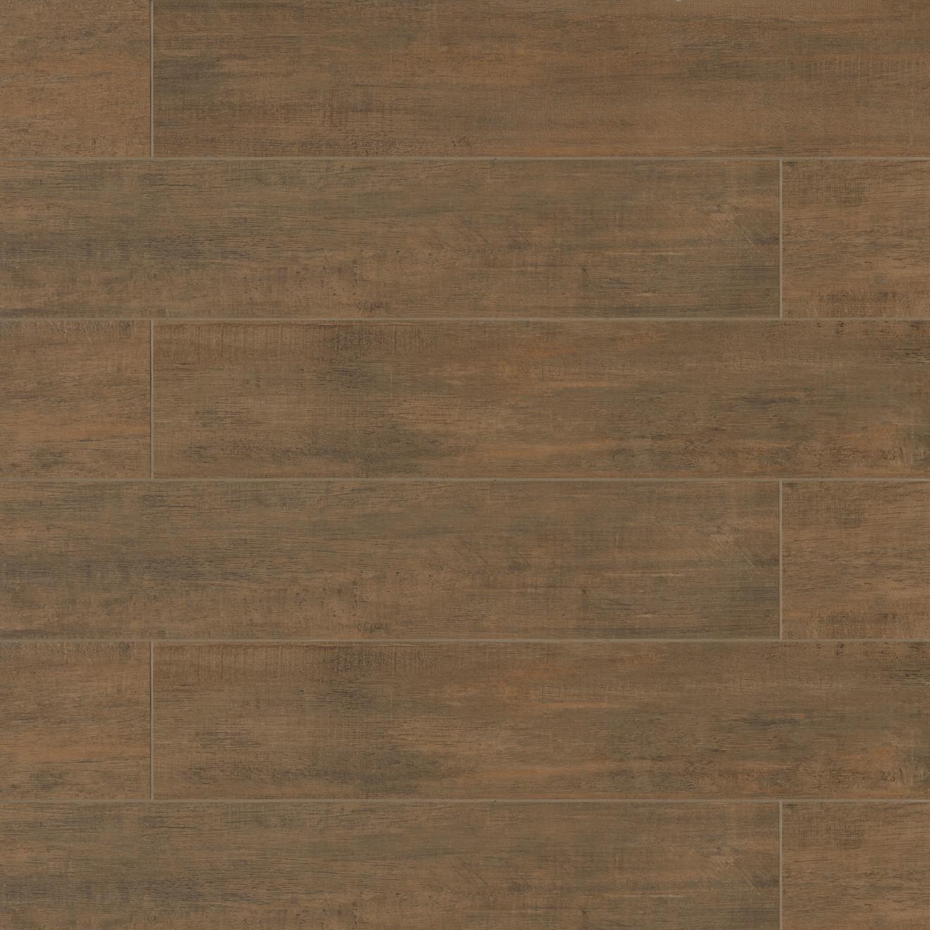 """Barrique 8"""" x 40"""" Floor & Wall Tile in Brun"""