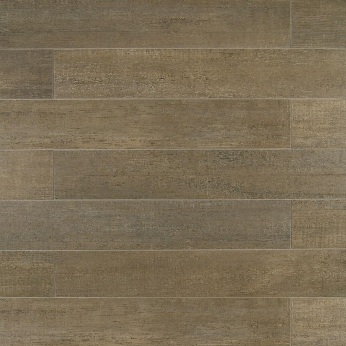"""Barrique 4"""" x 24"""" Floor & Wall Tile in Gris"""