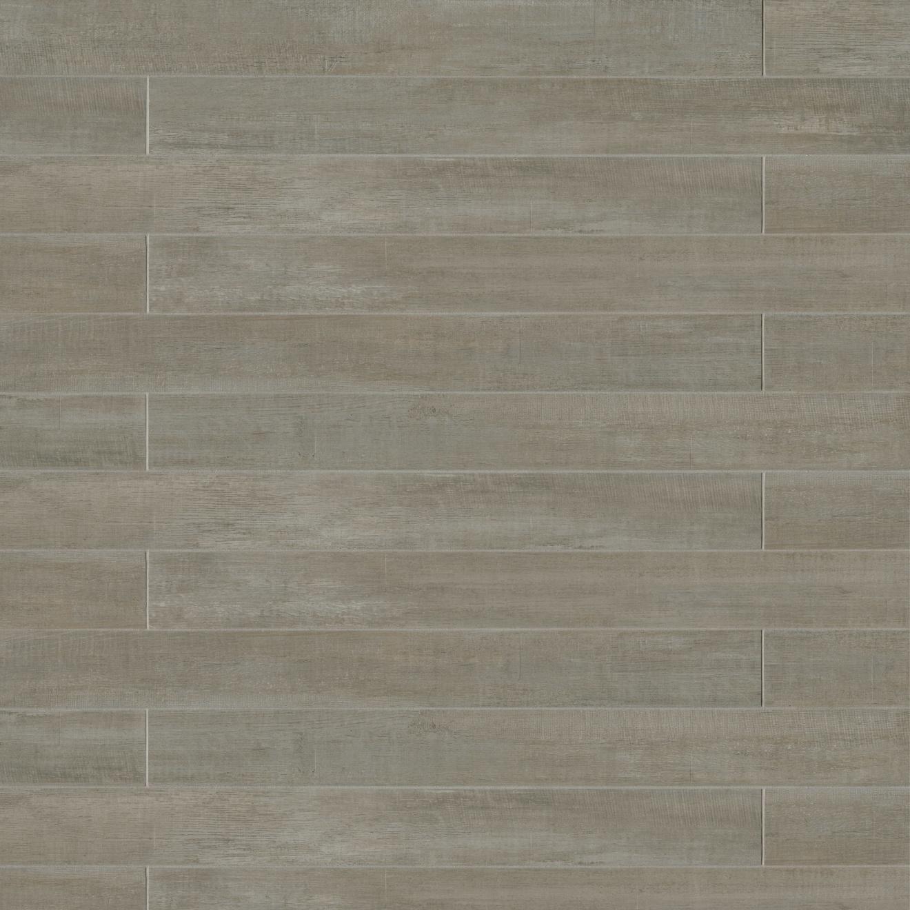 """Barrique 4"""" x 40"""" Floor & Wall Tile in Gris"""