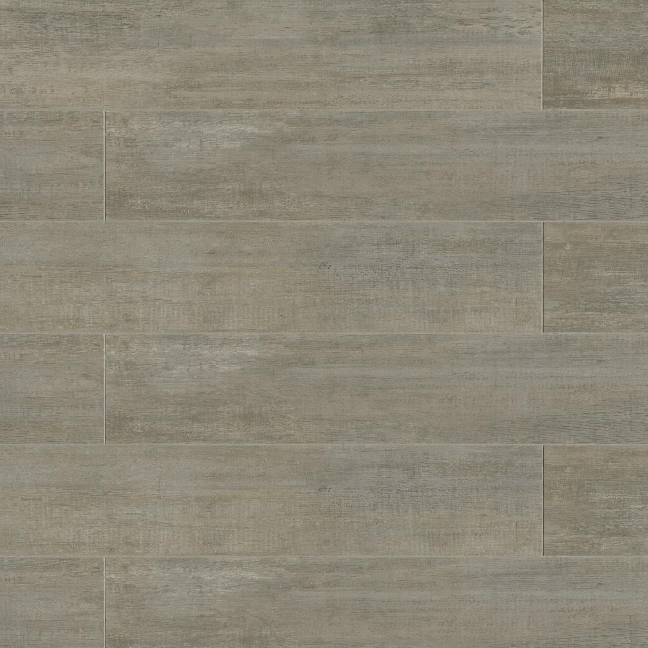 """Barrique 8"""" x 40"""" Floor & Wall Tile in Gris"""