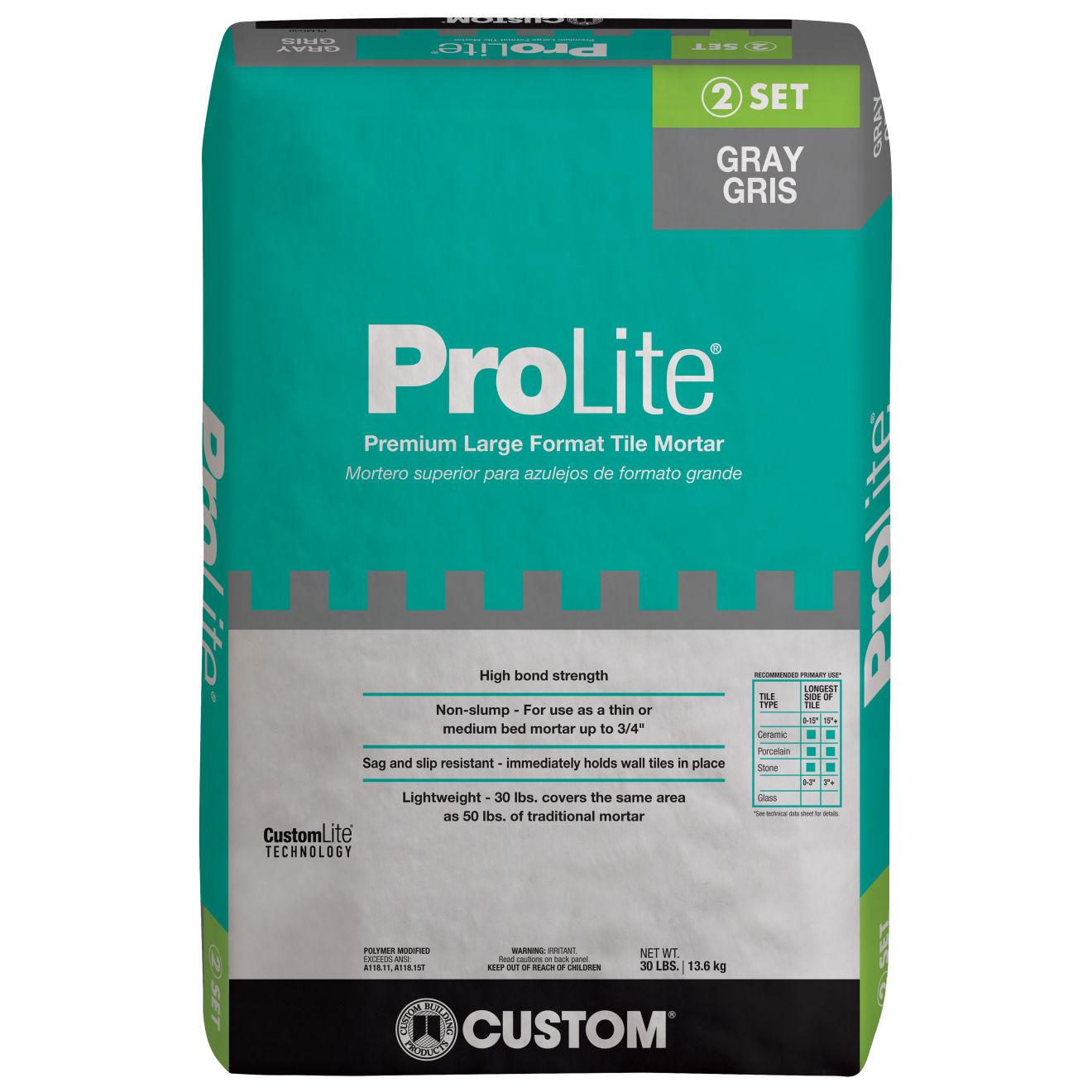 Custom ProLite Thin-Set in Gray - 30 lb. Bag