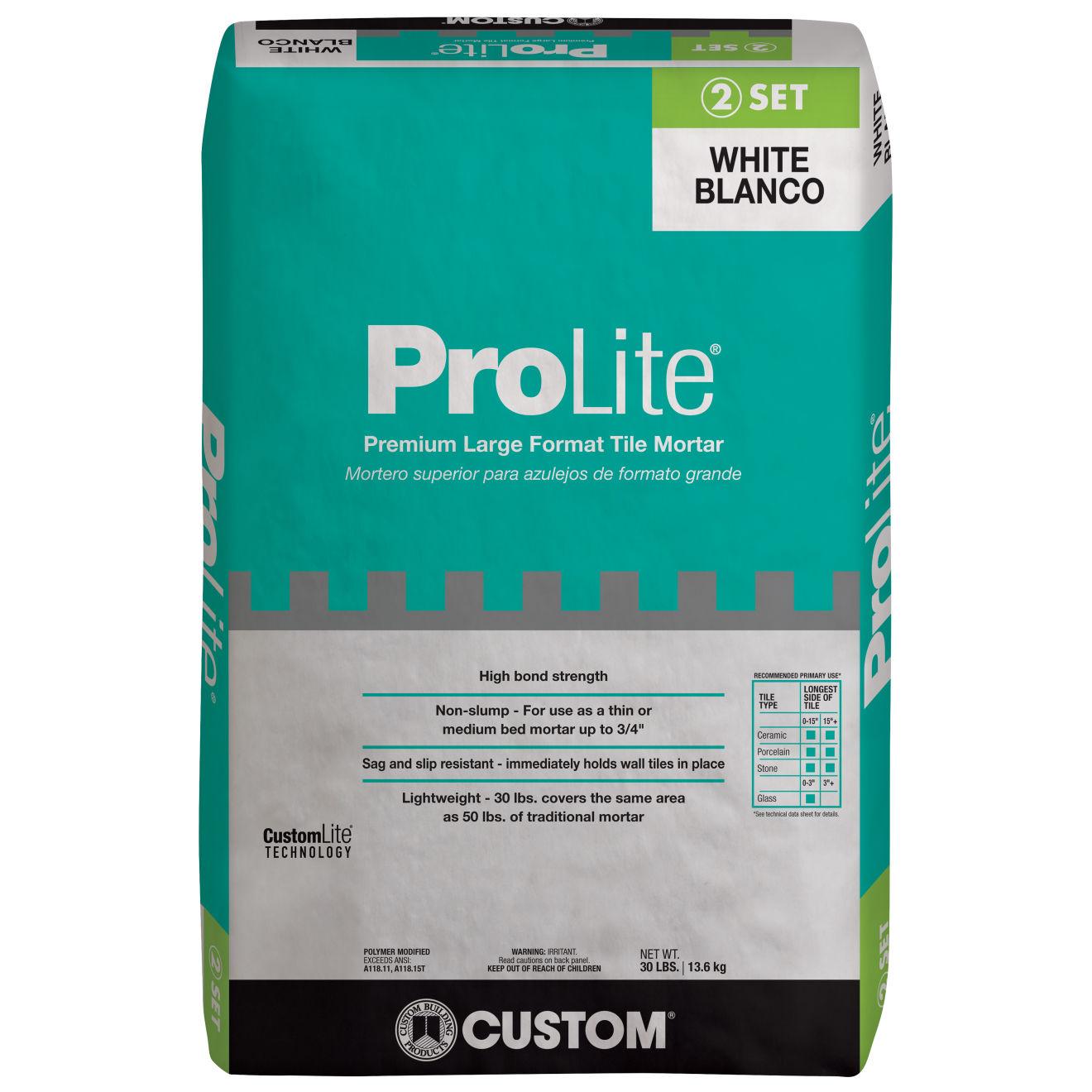 Custom ProLite Thin-Set in White - 30 lb. Bag