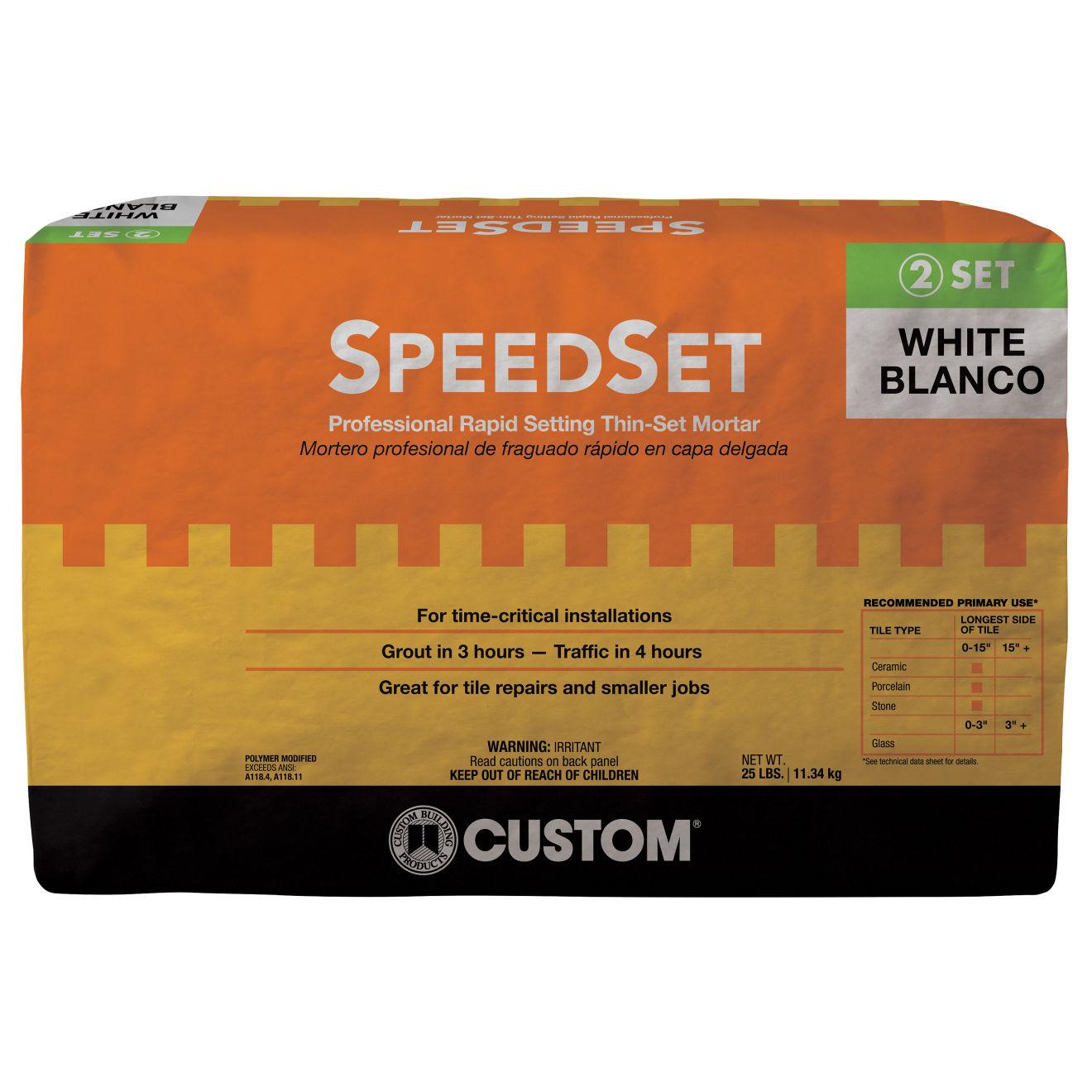 Custom SpeedSet Thin-Set in White - 25 lb. Bag