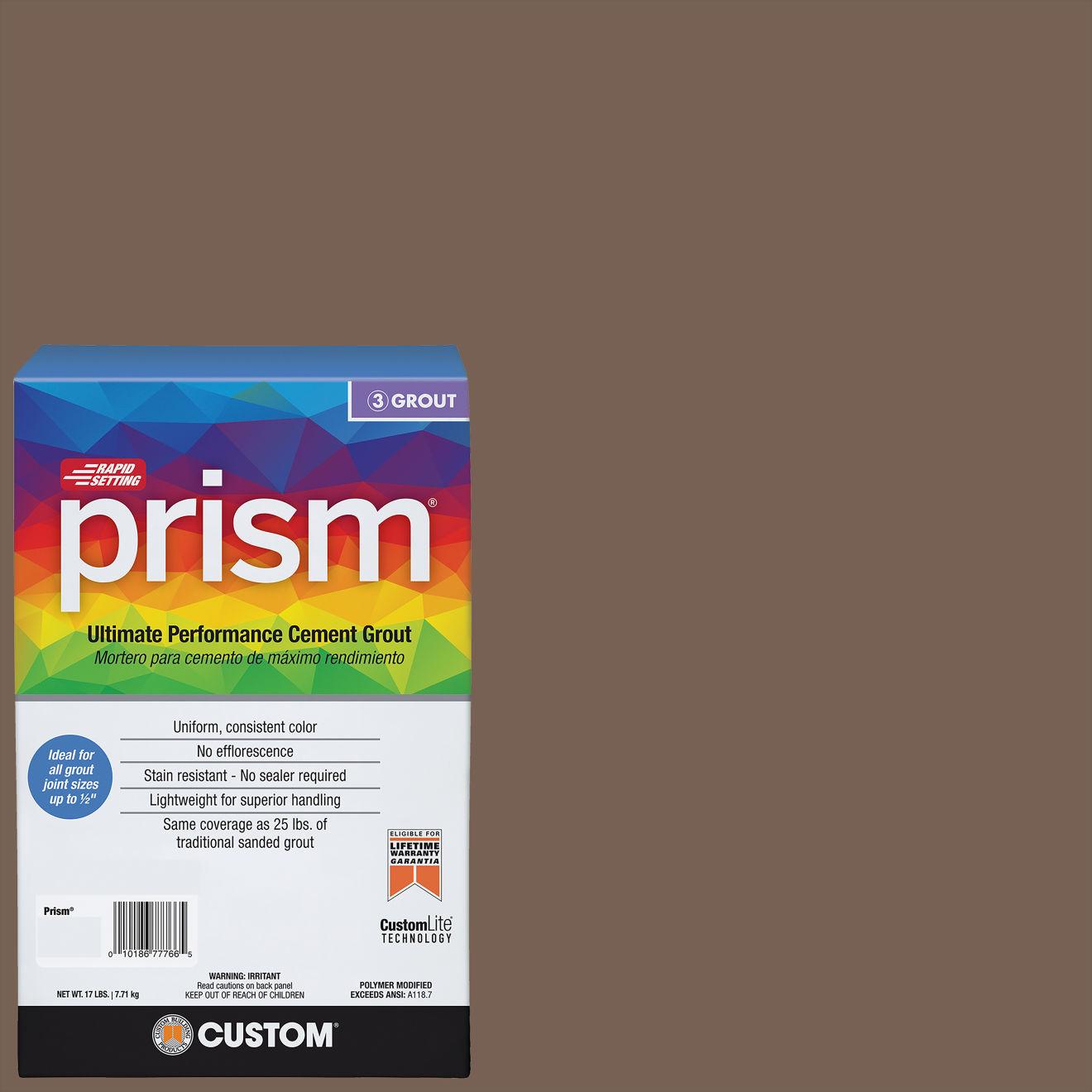 Custom Prism #052 Tobacco Brown 17lb. Sanded Grout