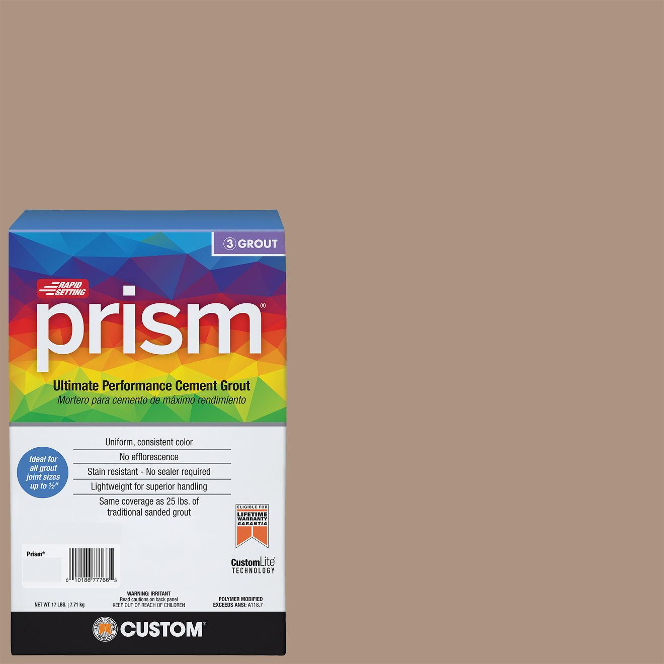 Custom Prism #135 Mushroom 17lb. Sanded Grout