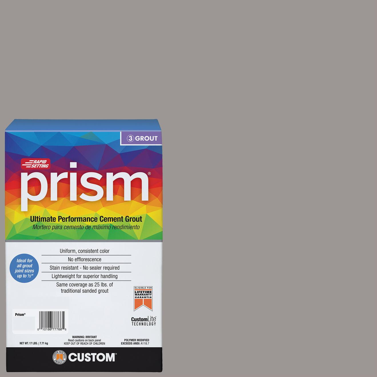 Custom Prism #165 Delorean Gray 17lb. Sanded Grout
