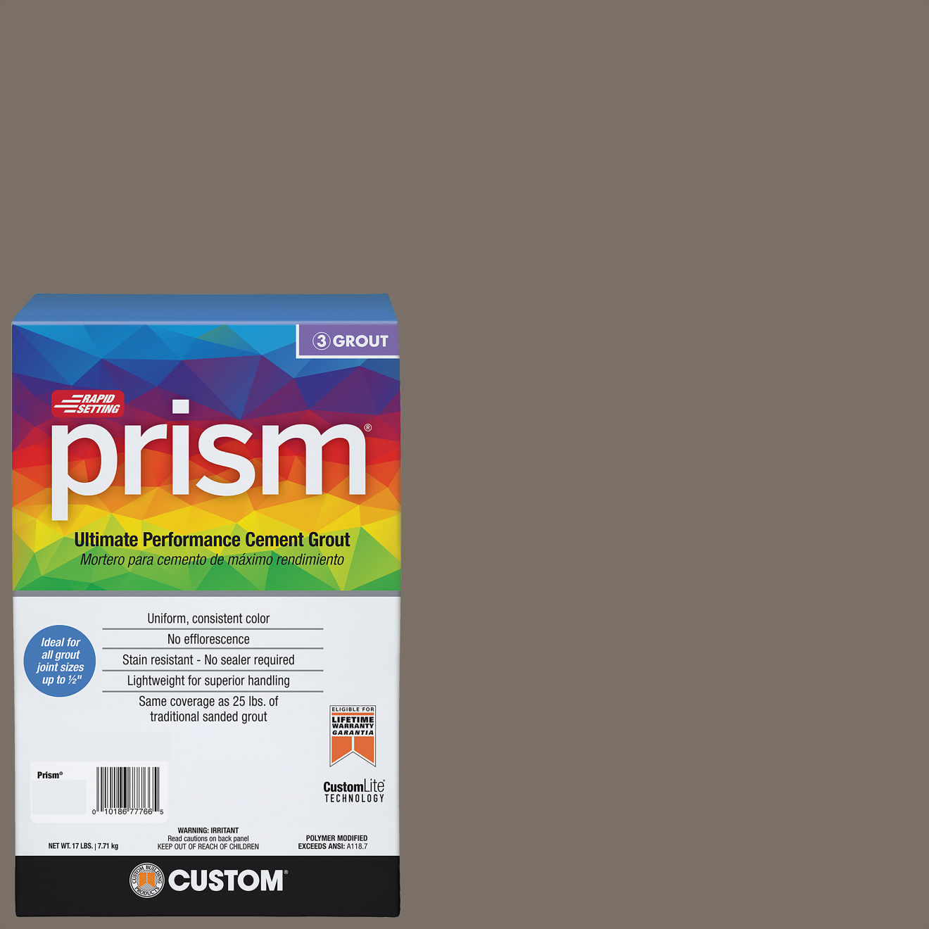 Custom Prism #185 New Taupe 17lb. Sanded Grout