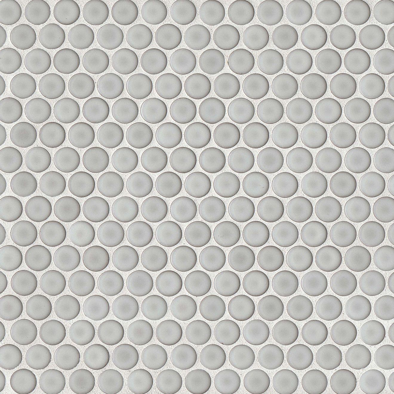 """360 3/4"""" x 3/4"""" Floor & Wall Mosaic in Dove Grey"""