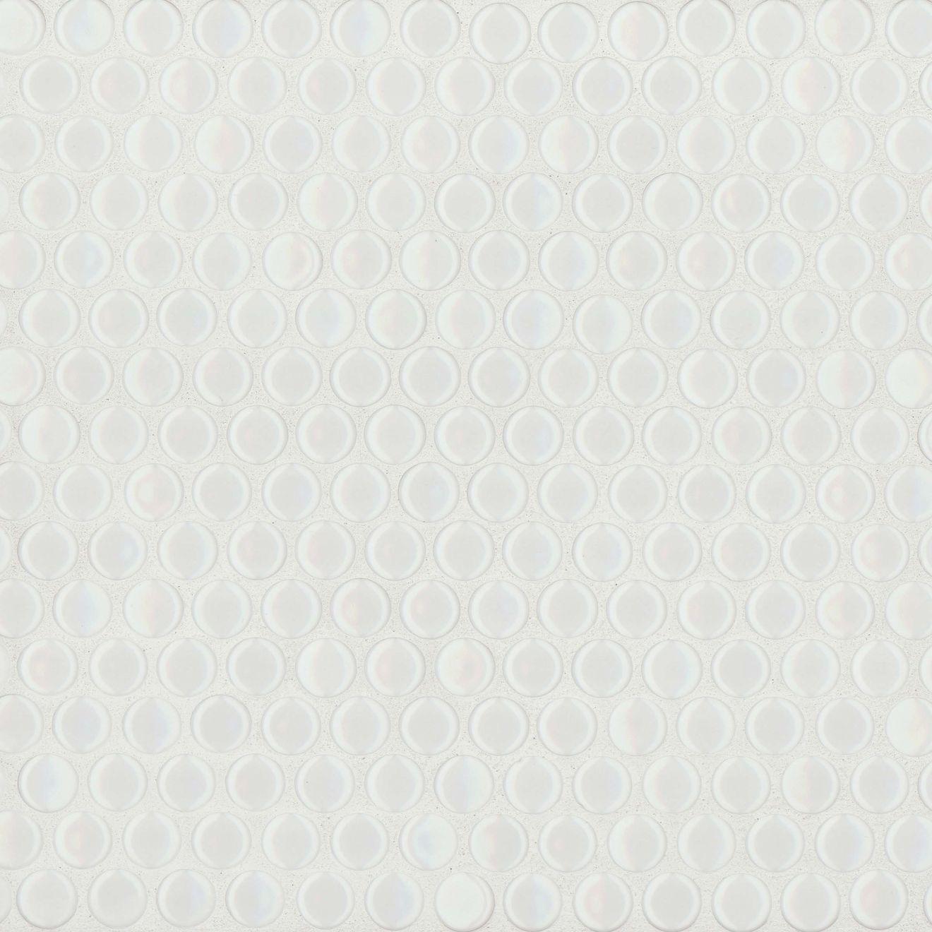 "360 3/4"" x 3/4"" Floor & Wall Mosaic in White Gloss"