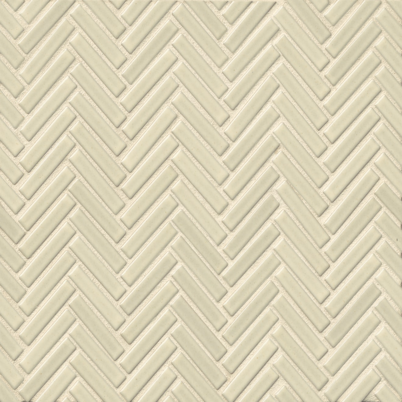 """90 1/2"""" x 2"""" Floor & Wall Mosaic in Off White"""