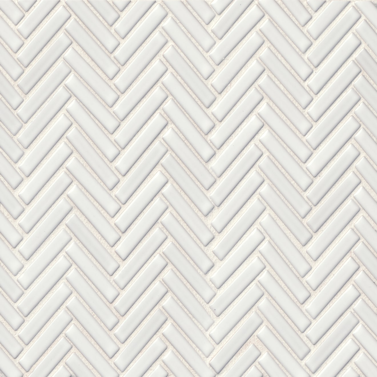 """90 1/2"""" x 2"""" Floor & Wall Mosaic in White"""