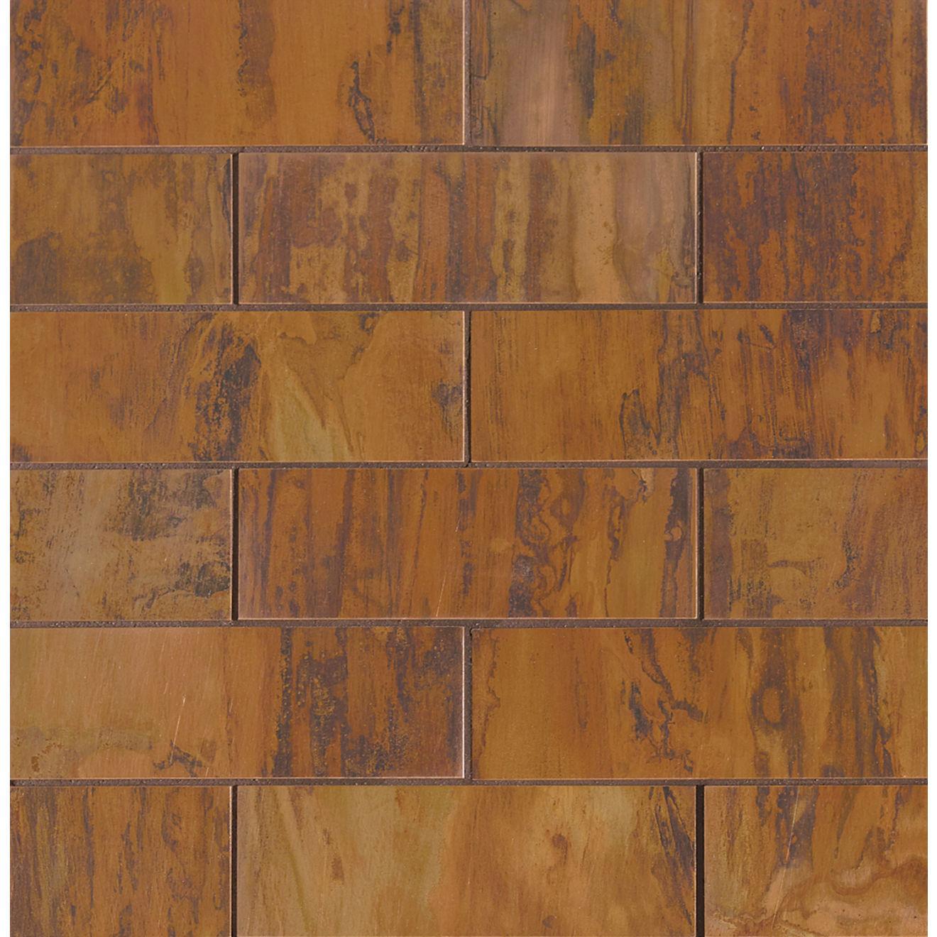 "Acadia 2"" x 6"" Wall Mosaic in Birch Copper"