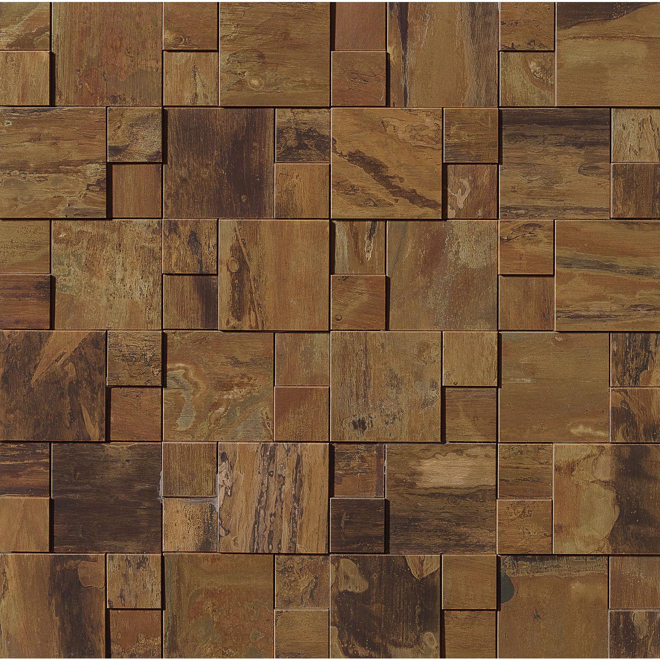 "Acadia 11"" x 11"" Decorative Tile in Islesford Copper"