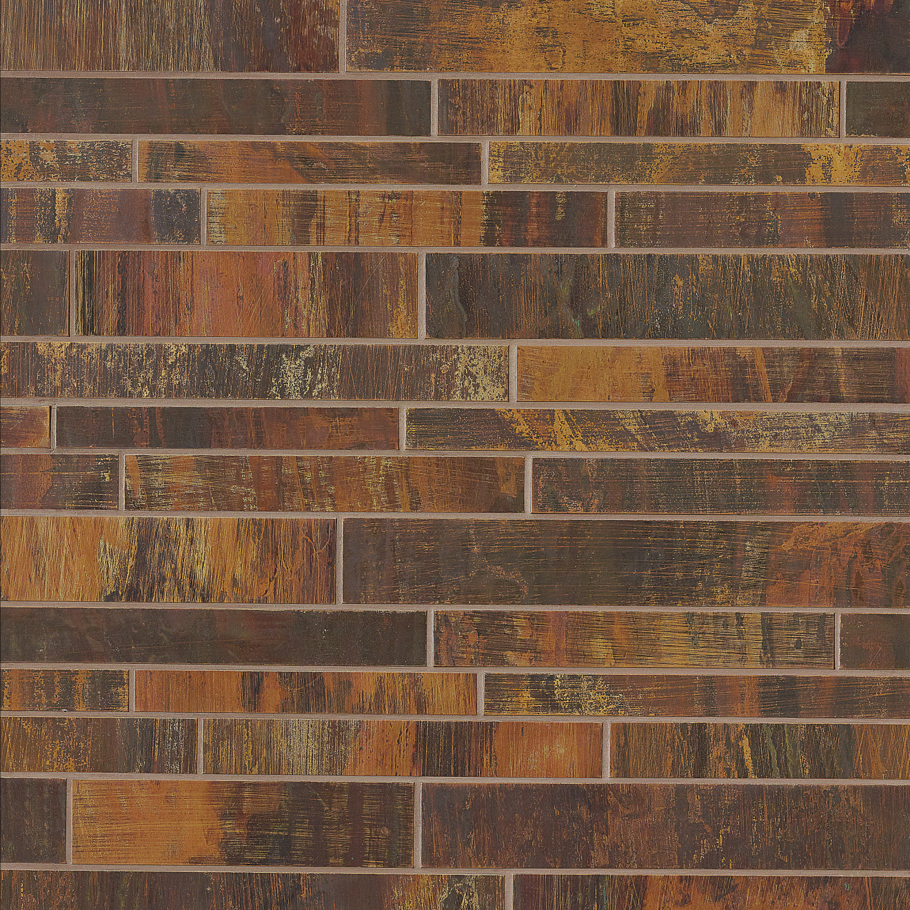 "Acadia 2"" x 6"" Wall Mosaic in Islesford Copper"
