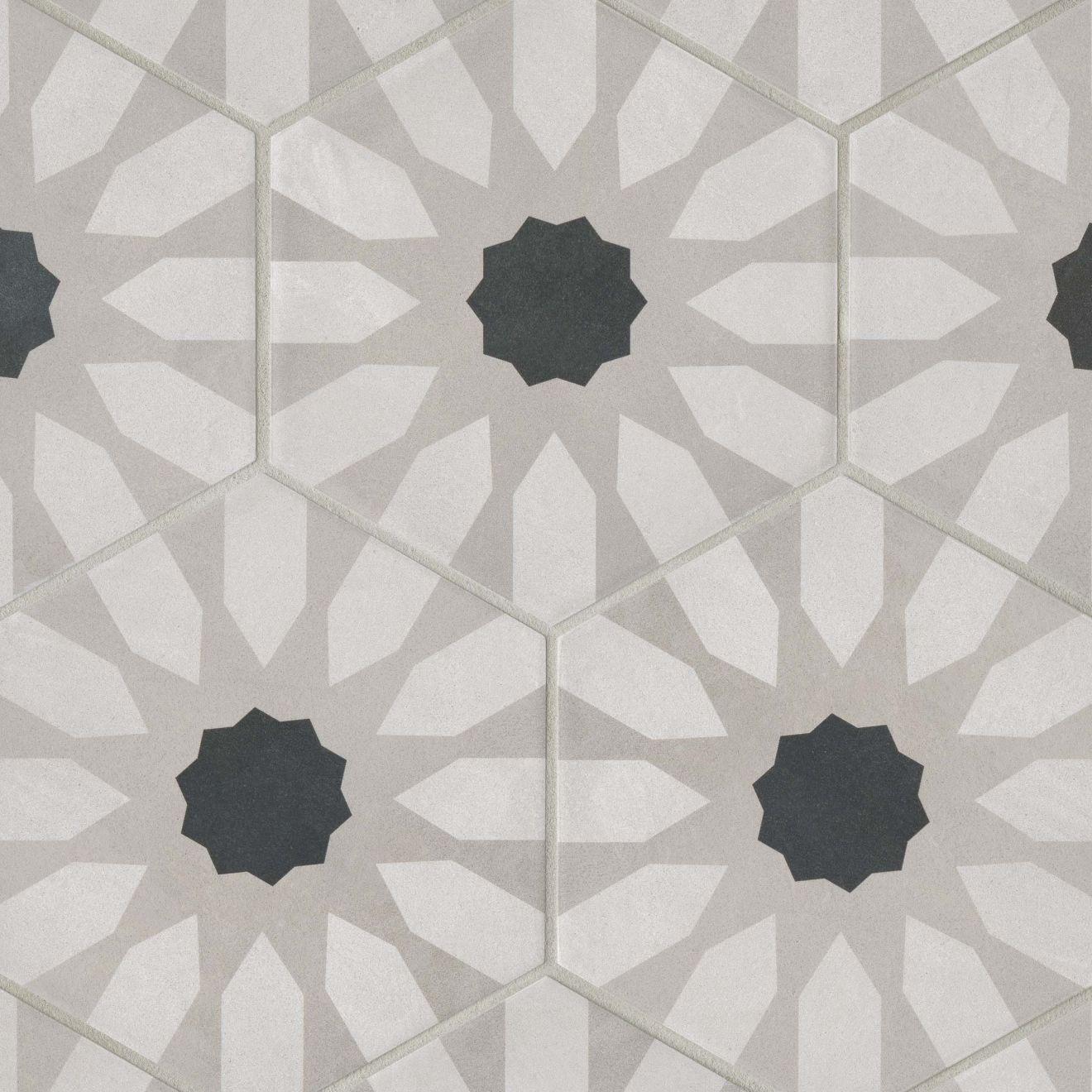 """Allora 8.5"""" x 10"""" Decorative Tile in Fiore"""