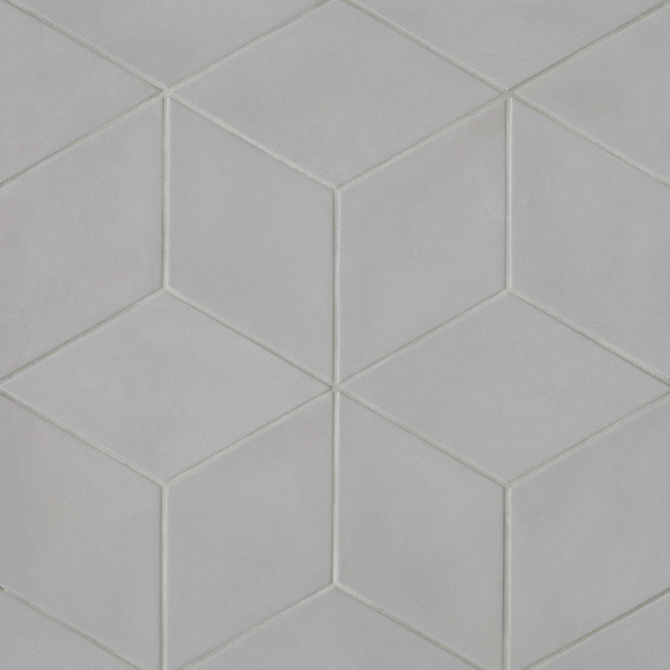 "Allora 7.5"" x 12.75"" Floor & Wall Tile in Solid Grey"