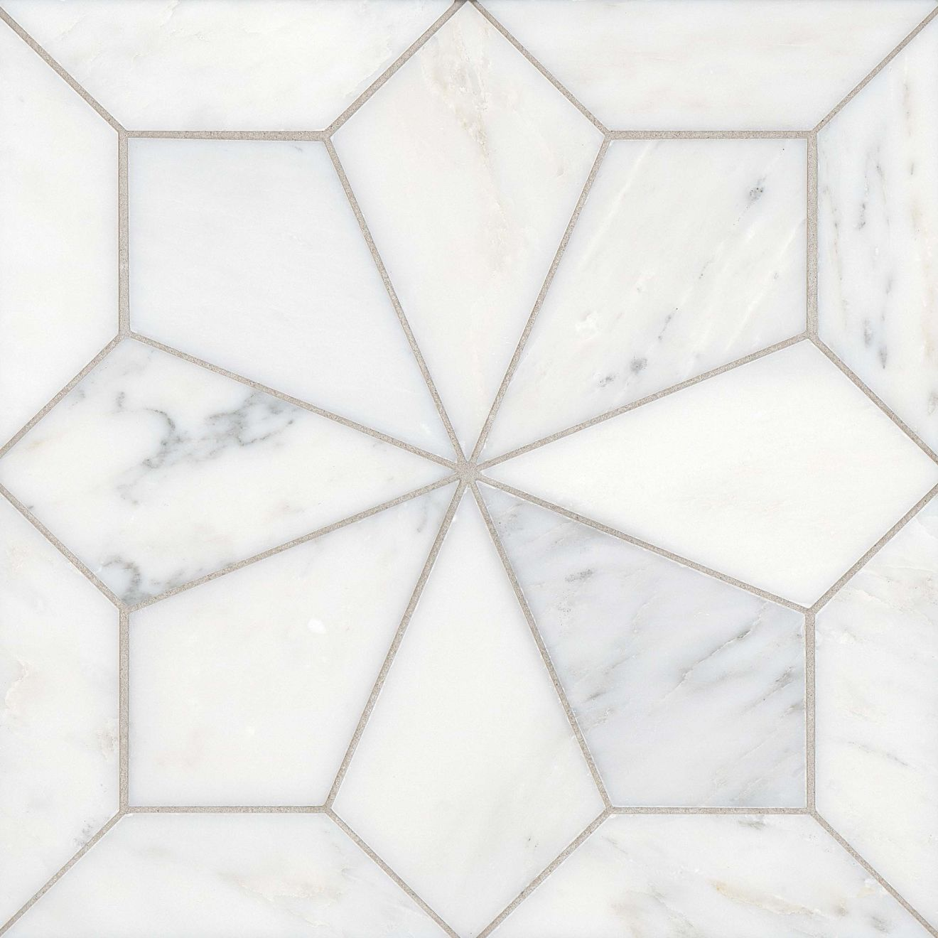 Blomma Floor & Wall Mosaic in Bianco